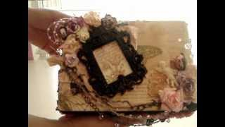 Altered Vintage Box, Letter And Candle