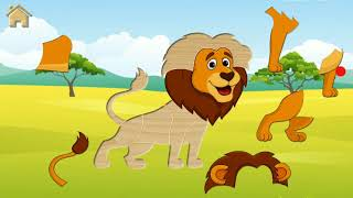 Safari Puzzles Funny Animals Game for Kids