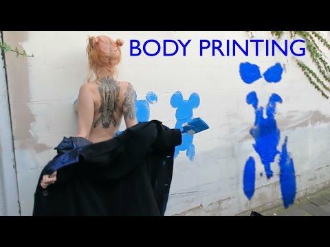 Body Printing In The Street