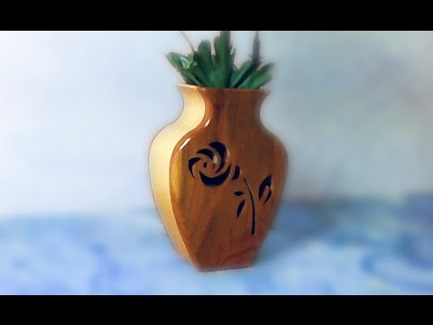 Making A Scroll Saw Vase Woodworking Old Video Youtube