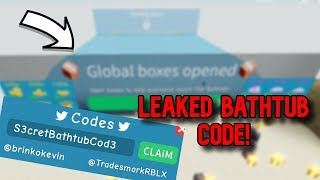 NUOVO SECRET: WORKING BATHTUB CODE Roblox Unboxing Simulator