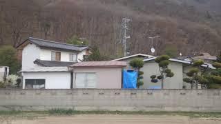 千曲~戸倉駅、しなの鉄道線、進行方向左側車窓から