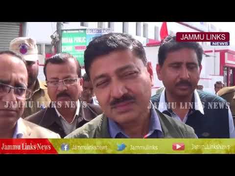 DC Kathua monitors anti encroachment drive