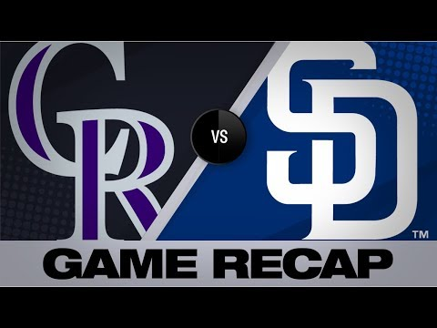 Myers walks it off with an RBI single in 10th | Rockies-Padres Game Highlights 9/8/19