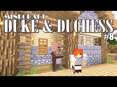 The 1st Building in the Village 👑 Duke & Duchess EP8 - Minecraft Survival Adventure with Gamer Chad