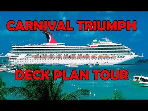 Carnival Triumph DECK PLAN TOUR