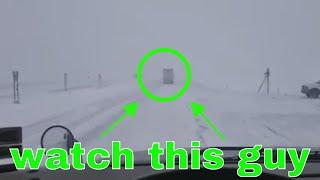 Big Rig Life:: Skating with 18 wheels:: blizzard driving
