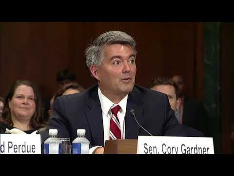 Sen. Gardner Introduces Justice Allison Eid to Judiciary Committee