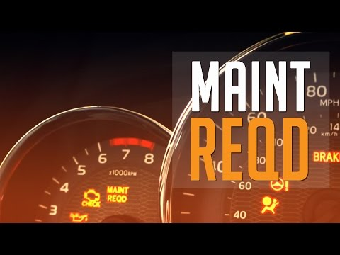 How To Reset a MAINT REQD Light for 2015 Toyota Corolla