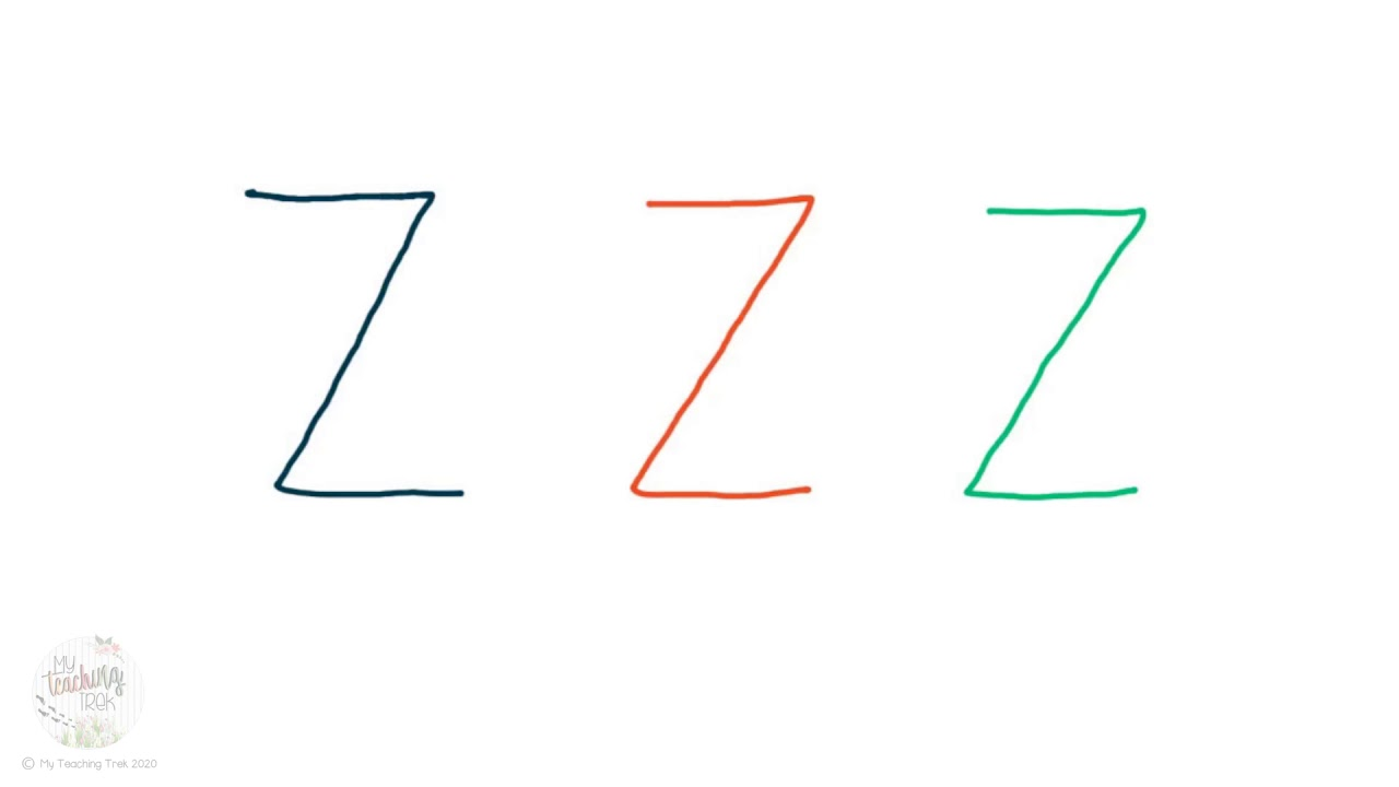 Letter Zz -Uppercase and Lowercase I A-Z Handwriting I VIC ...