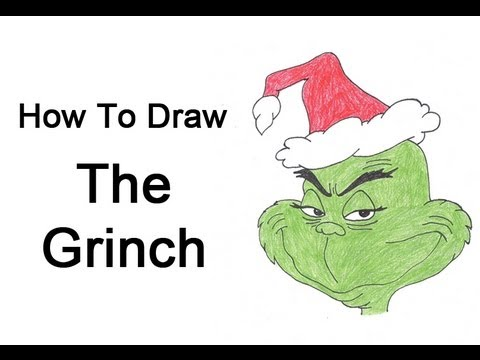 how to draw the grinch whole body