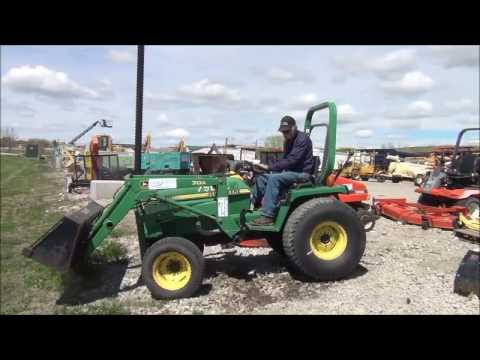 1995 John Deere 955 MFWD tractor for sale | no-reserve Internet auction May  23, 2017