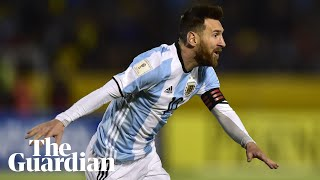 Download Video Messi hat-trick secures World Cup place for Argentina MP3 3GP MP4