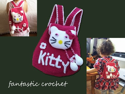 How To Crochet A Backpack Hello Kitty Youtube