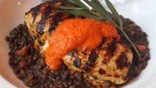 Spicy Tarragon Yogurt Chicken - Easy Marinated Grilled Chicken Recipe