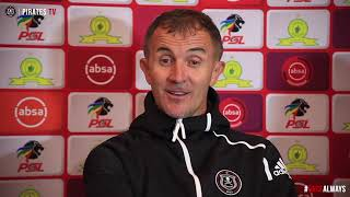 Orlando Pirates | 2018/19 ABSA Premiership | vs Mamelodi Sundowns | Post Match Press Conference