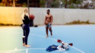 GIRLFRIEND PLAYS BASKETBALL  (1 SHOT = 1 PIECE OF CLOTHES)
