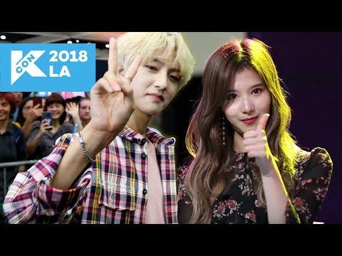 MEETING K-POP IDOLS IN REAL LIFE! (KCON LA Vlog #2)