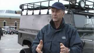 Gambar cover Sir Ranulph Fiennes and his tracked Land Rover Challenge.