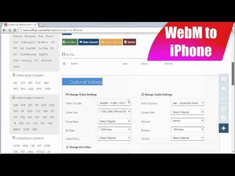 How to Convert WebM to iPhone using Office-Converter.com