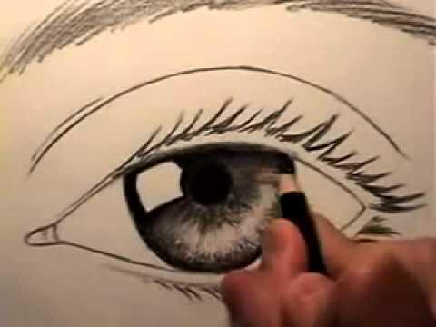 تعليم رسم العين سهل بالقلم الرصاص Youtube
