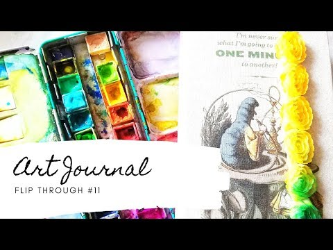 Art Journal Flip Through #11