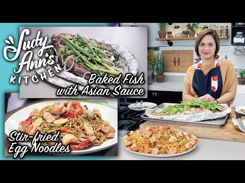 [Judy Ann's Kitchen 8] Ep 2: Baked Fish With Asian Sauce And Stir-Fried Egg Noodles