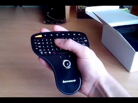 lenovo n5901 2 4ghz portable handheld wireless keyboard with trackball mouse youtube. Black Bedroom Furniture Sets. Home Design Ideas