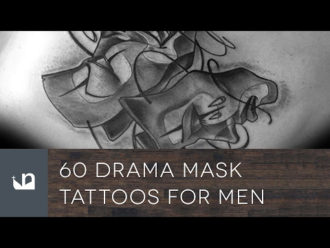 60 Drama Mask Tattoos For Men