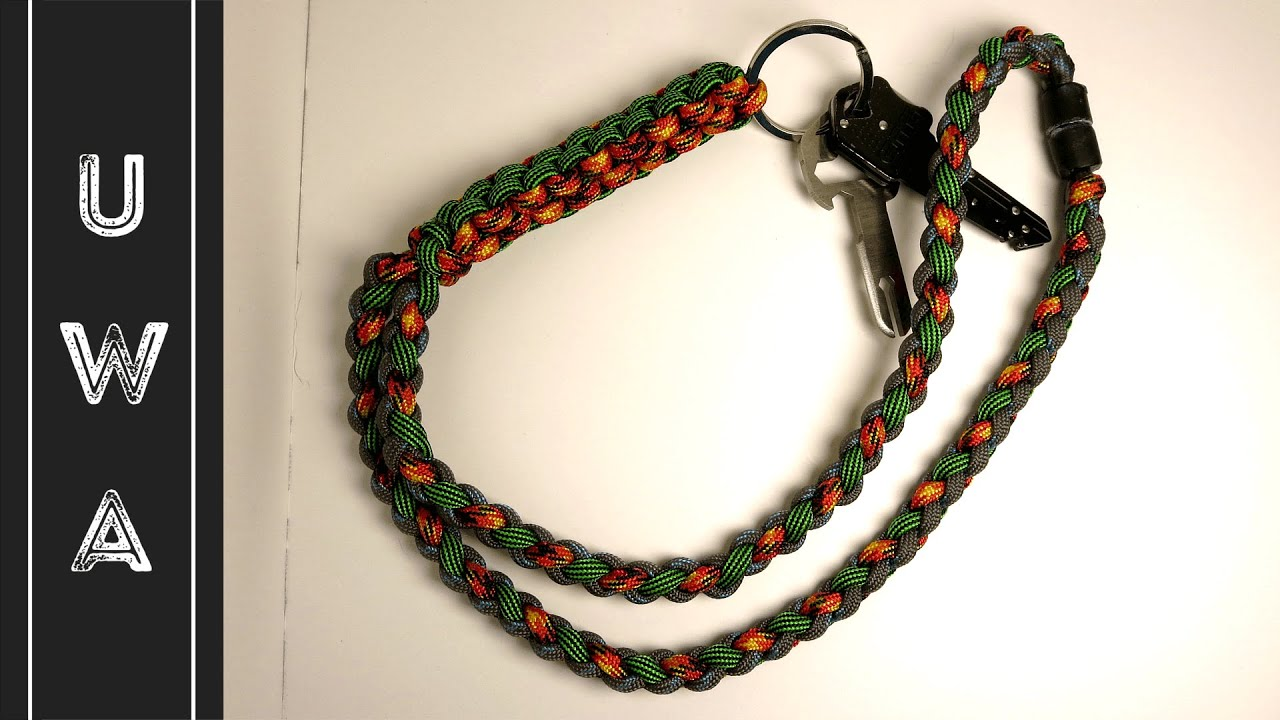 How To Make A Paracord Lanyard Crown Sinnet Four Strand Round