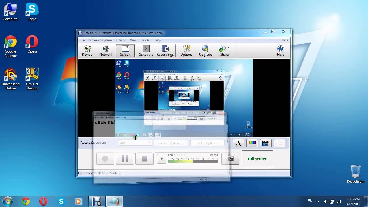 debut video capture free code
