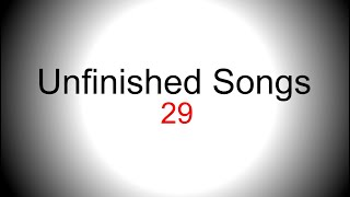 Chilled pop/country singing backing track - Unfinished song No.29
