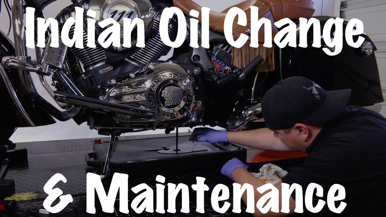 Indian motorcycle oil change routine maintenance safety youtube premium solutioingenieria Choice Image
