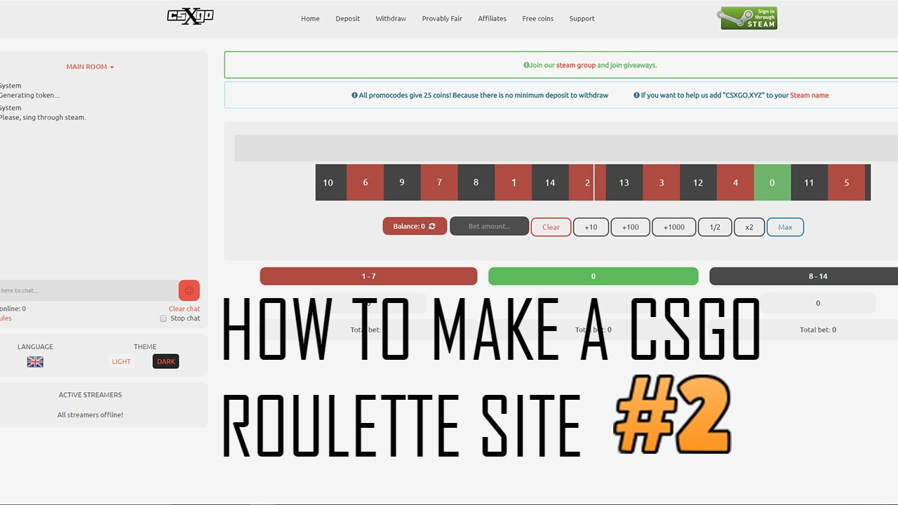 How to create csgo roulette novomatic slots online sizzling hot