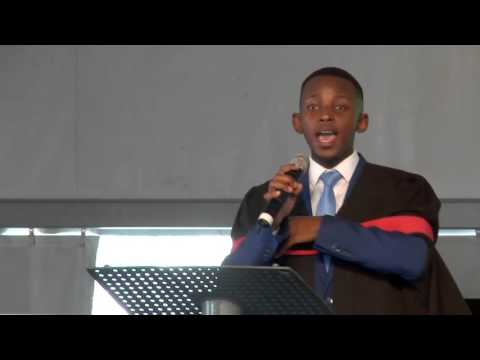 Mvuyo Makhazi speaks at the Jacob G Zuma RDP Education Trust Christmas Party