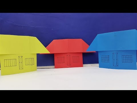 How to make a paper house very easy  | Beautiful and colourful Dreamhouse | Origami House Making-diy