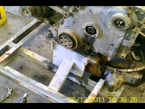 Cummins N14 Industrial Camshaft Removal