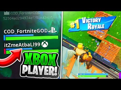 PS4 Player And XBOX Player WIN A Game Of Fortnite TOGETHER! (PS4/XBOX Crossplay Gameplay)