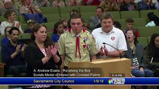 Clip of the Month: Boy Scout Receives Honor Medal with Crossed Palms