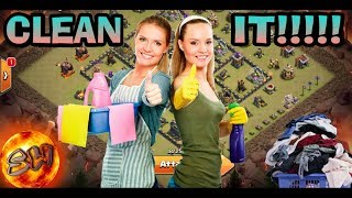 CLEAN IT(CLEAN UP ATTACKS AT TH9)CLASH OF CLANS