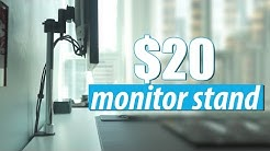 $20 Monitor Arm Stand Review - Amazing Value and Looks Awesome!
