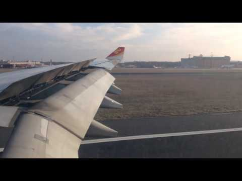 Landing at Berlin Tegel airport