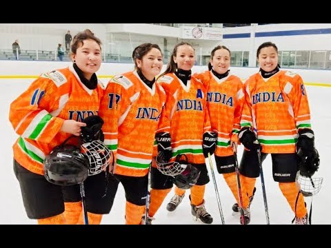 India's 1st women's hockey team competes in Alberta