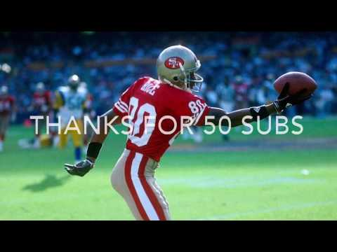 """Jerry Rice Career Highlights """"The Goat"""""""