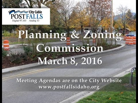 Post Falls Planning & Zoning Commission, March 8, 2016