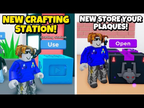 NEW HUGE UPDATE IN YOUTUBE SIMULATOR!! NEW CRAFTING STATION, NEW CURRENCY DOLLAR BILLS!!