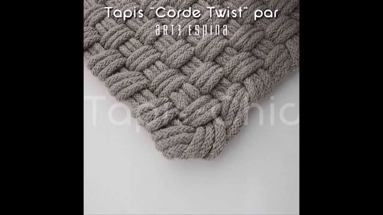 tapis corde gris d 39 arte espina par tapis chic youtube. Black Bedroom Furniture Sets. Home Design Ideas
