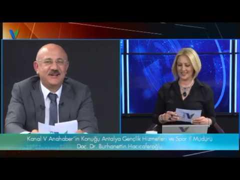 Kanal V Ana Haber'in konuğu Hestourex Fuarı Genel Sekreteri Burhanettin Hacıcaferoğlu