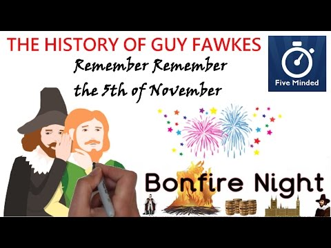 Guy Fawkes And Bonfire Night Animated History