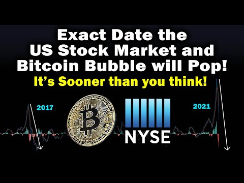Exact Date Bitcoin u0026 US Stock Market Bubble will Pop! NYSE u0026 BTC price crash in early 2021 - TA